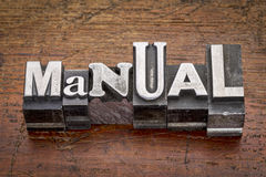 Manual in metal type Stock Photos