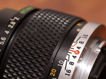 Manual old-fashioned lens. Manual old lens Royalty Free Stock Photo