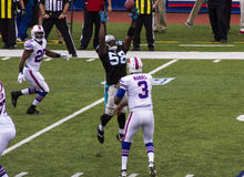 Manual passes to Spiller Stock Image