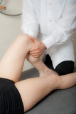 Manual, physio and therapy techniques performed Royalty Free Stock Photos