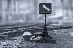 Manual railroad switch Royalty Free Stock Photo