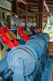 Manual railroad switch. Stock Image