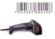 The manual scanner of bar codes Stock Images