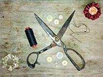 Manual sewing royalty free stock image