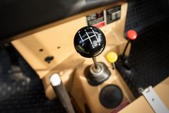 A manual shift car gear lever Royalty Free Stock Photo