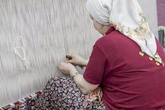 Manual Silk Weaving Turkey Stock Photos