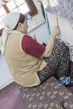 Manual Silk Weaving Turkey Royalty Free Stock Photos