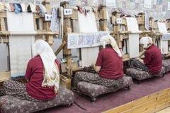 Manual Silk Weaving Turkey Royalty Free Stock Images