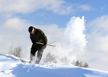 Manual snow removal Royalty Free Stock Photos