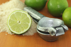 Manual squeezing lemons Stock Images