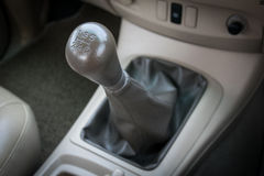 Manual  transmission gear shift. Car interior. manual transmission gear shift Royalty Free Stock Photography