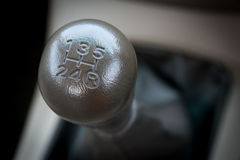 Manual  transmission gear shift. Royalty Free Stock Photography