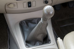 Manual  transmission gear shift. Stock Image