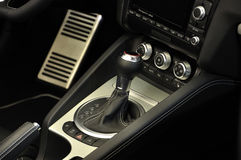 Manual Transmission,Super Sport Car Interior. Manual Transmission in super sport car interior royalty free stock photo