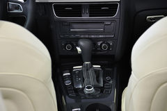 Manual Transmission,Super Sport Car Interior Stock Photography
