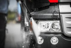 Free Manual Truck Washing Stock Photography - 99255242