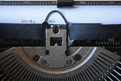 Manual Typewriter:  Love, Dad Royalty Free Stock Photos