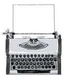 Manual typewriter Vintage black and white with paper art pai Stock Photography