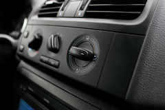 Manual ventilation switches. Manual switch board in the car Stock Image