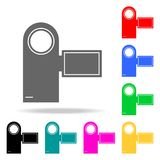 Manual video camera icons. Elements of human web colored icons. Premium quality graphic design icon. Simple icon for websites, web. Design, mobile app, info Stock Photos