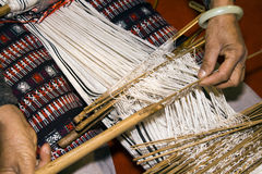 Manual weaving loom Royalty Free Stock Photo