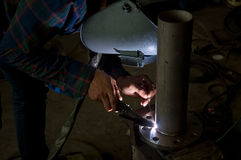 Manual welding Royalty Free Stock Photo