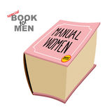 Manual women. Instruction girls. Special book for men. Big fat p Royalty Free Stock Photography