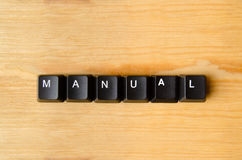 Manual word. With keyboard buttons royalty free stock photography