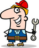 Manual worker cartoon illustration Stock Photos