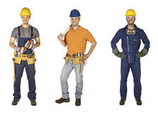 Manual worker collection Royalty Free Stock Image