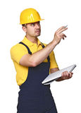 Manual worker on duty stock photography
