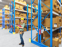 Manual worker on duty Stock Images