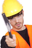 Manual worker with hammer Stock Photos