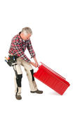 Manual worker with heavy toolkit Stock Photos