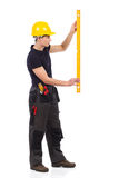 Manual worker measuring Stock Photography