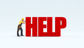 Manual worker need help Stock Image