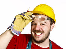 Manual worker portrait stock image