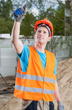 Manual worker showing thumbs up sign Stock Images
