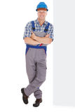 Manual Worker Standing Arms Crossed Stock Photography