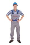 Manual Worker Standing With Hands On Hip Stock Photos
