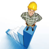 Manual worker success Stock Photo