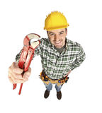 Manual worker with tool Royalty Free Stock Photos
