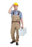Manual worker with toolbox Stock Photos