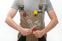 Manual worker with tools Stock Photography