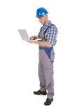 Manual Worker Using Laptop Stock Photos