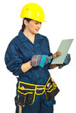 Manual worker woman working Stock Photos