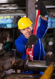 Manual worker wrench Stock Image