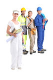 Manual workers stock images