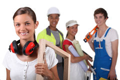 Manual workers. From different trades Stock Photo
