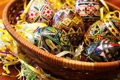 Manually painted Easter eggs 2 royalty free stock photos